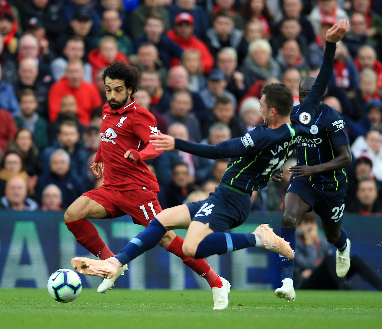 Bild zu Liverpool, ManCity, Guardiola, Klopp, Salah