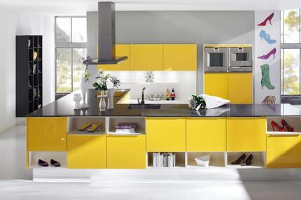 Die gelbe Küche der Cosentino Group