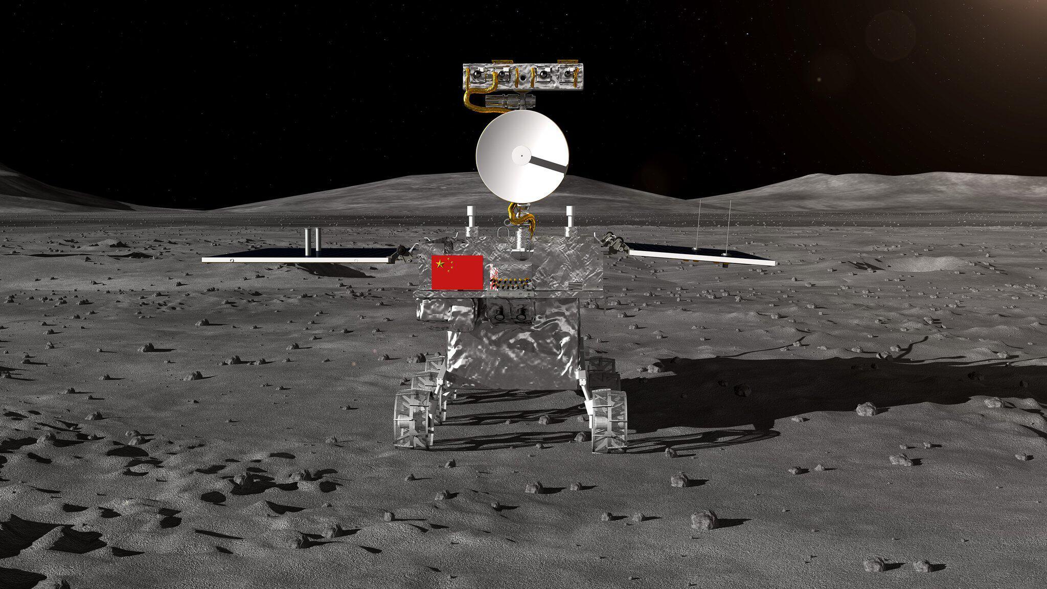 Bild zu «Chang'e 4»: Sonde landet auf Rückseite des Mondes