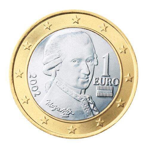 Rückseite 1 Euro Münze