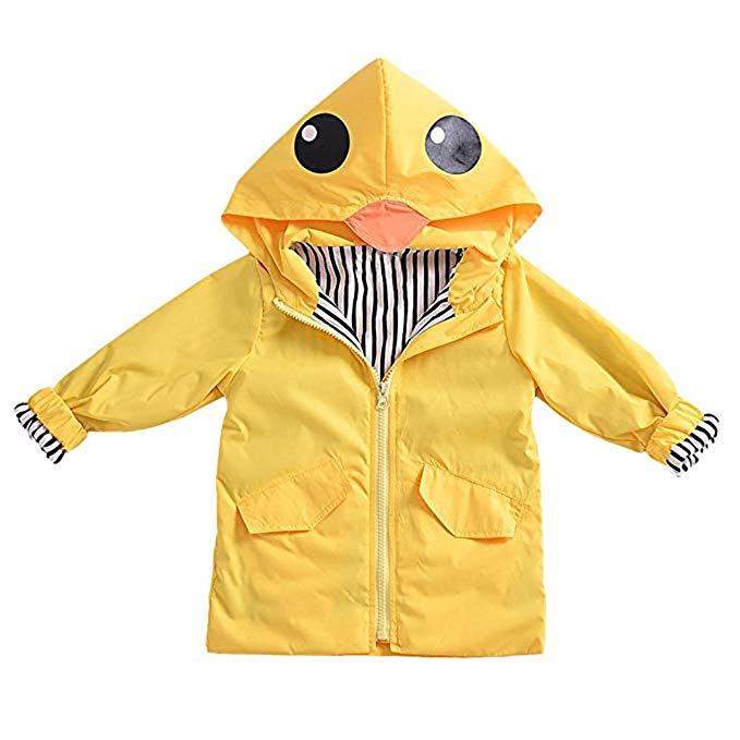 Bild zu Diese Regenjacke dürften selbst regenscheue Kinder gerne anziehen.