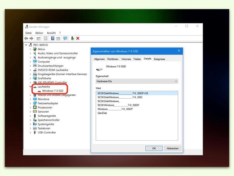 Bild zu Laufwerke Windows 7