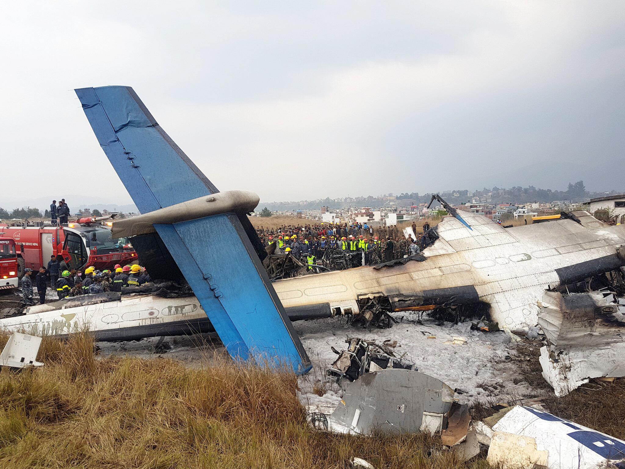 Bild zu Nepal, Kathmandu, Flugzeugunglück