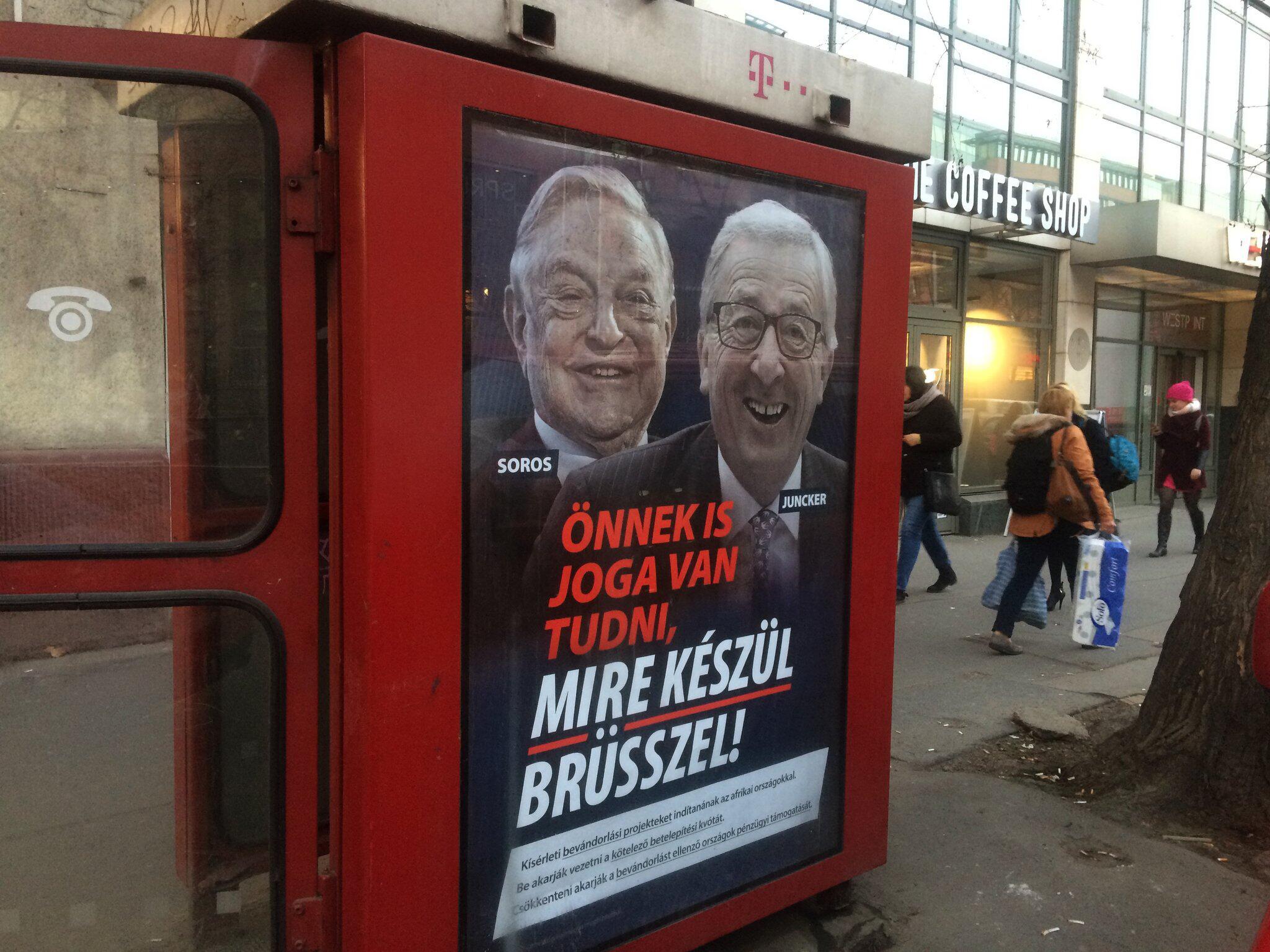 Bild zu Plakatkampagne gegen Juncker und Soros in Ungarn