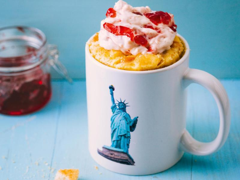 Bild zu New York Cheesecake aus der Tasse