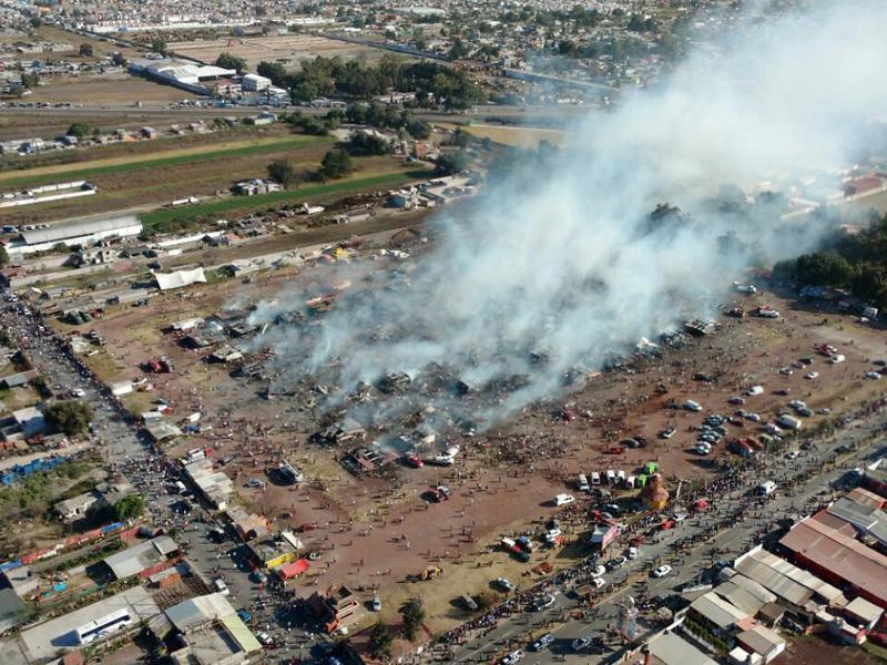 Bild zu Explosion auf Pyrotechnik-Markt
