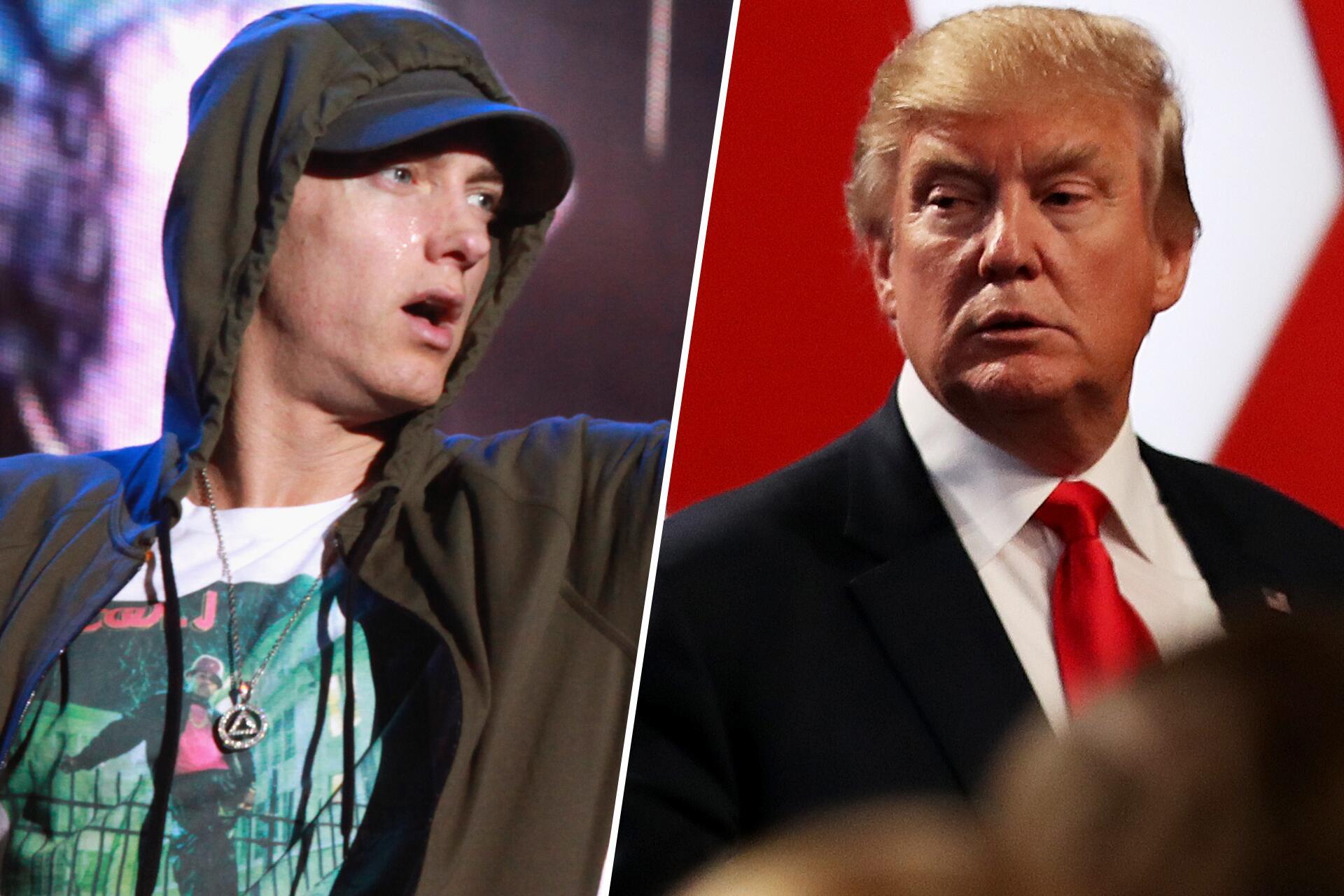 Bild zu Eminem, Donald Trump